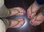 She tried to accuse me of stealing her sandals... we had the same ones