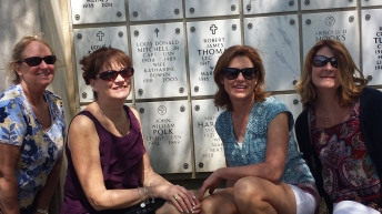 Sisters at Arlington National Cemetery 26 years later. Sorry John, looks like you were on the stool at the counter again.